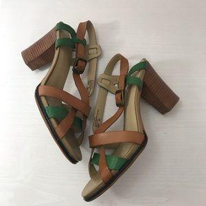Levity block heel sandals